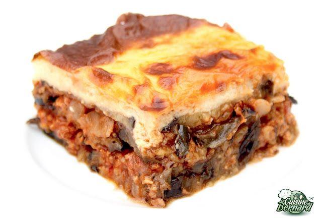 Moussaka Grecque: a tester avec du bœuf et non de l'agneau. Goût trop prononcé. Faire griller les aubergines badigeonnées d'huile d'olive au four et non à la poêle.