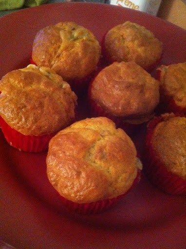 Muffins au panais, coeur croquant-fondant à la Fourme d'Ambert et noisette