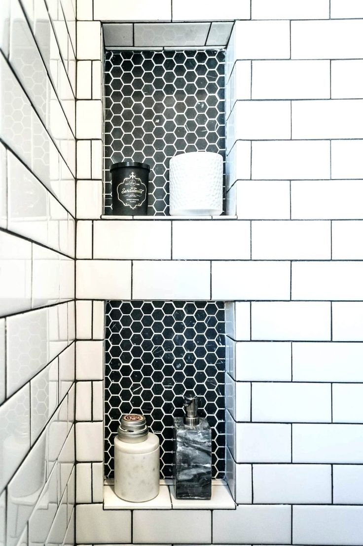 Image result for white hexagon floor with black grout