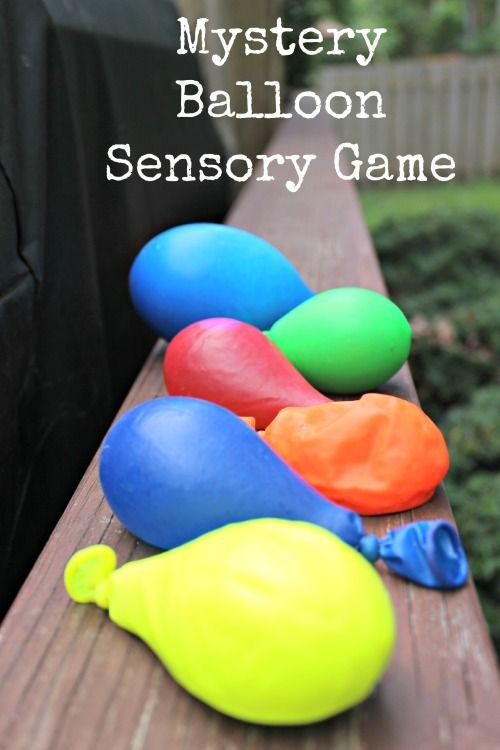 Awesome fun!  Mystery Balloon Sensory Game -- kids figure out what substance is in each balloon.