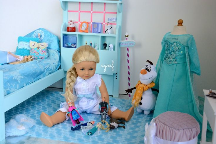 SUPER CUTE!! AGOSF has created Elsa's Bedroom for her American Girl Doll Disney Frozen  ~ Watch in HD! ♥