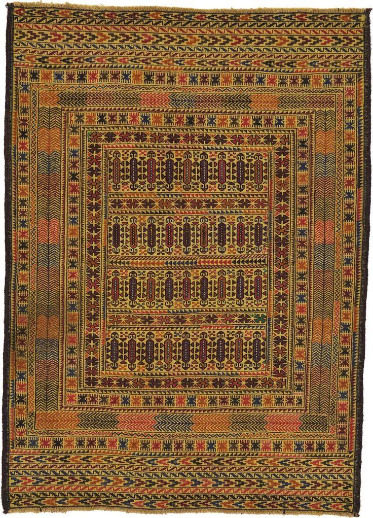 Gold 4 3 X 5 10 Kilim Afghan Rug Area Rugs Irugs
