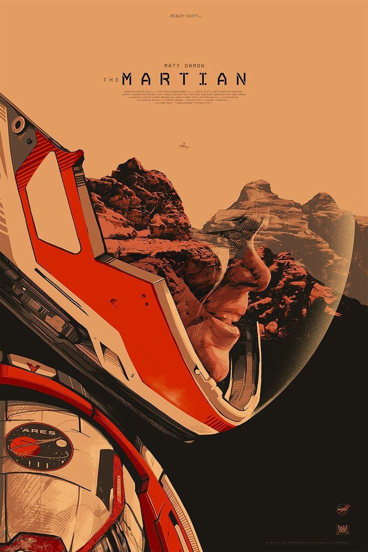 Oliver Barrett's poster for The Martian