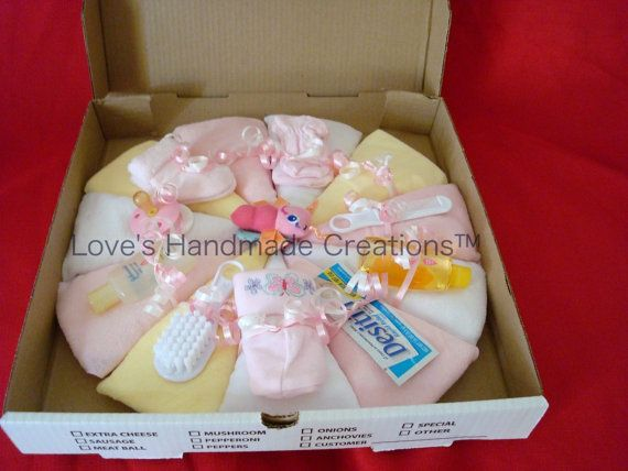 Pizza de couches bébé fille par meshell609 sur Etsy