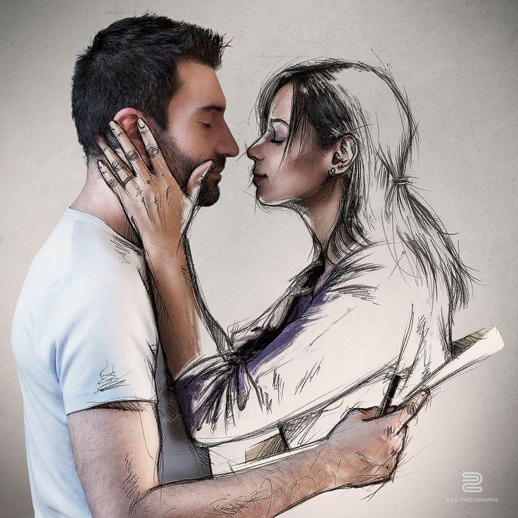 Sketch the love II - Esquisse et details : https://www.behance.net/gallery/23666751/Sketch-the-love-II  Lien HD : https://www.flickr.com/photos/s-d-g/16499499496/in/set-72157643657489094  Déjà deux ans que j'avais réalisé cette première version (https://www.flickr.com/photos/s-d-g/8473405782/in/set-72157643657489094) , l'une des premières images de ma série. C'était l'occasion aujourd'hui de vous présenter cette nouvelle version