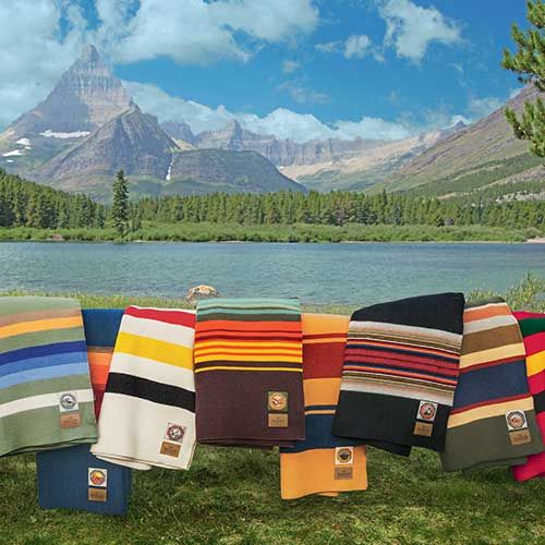National Park Collection blankets by Pendleton. A portion of your purchase goes to support the National Park Foundation.