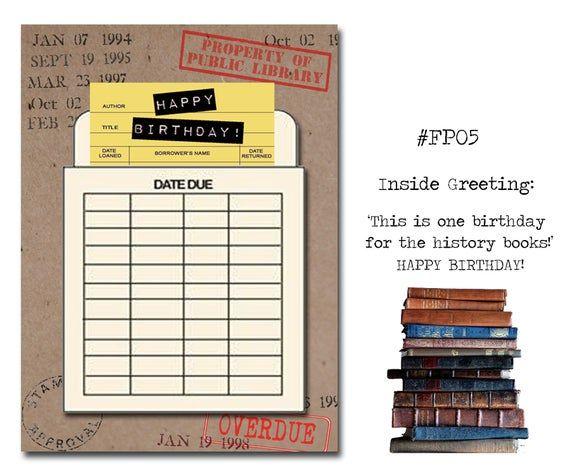 Happy Birthday Book Themed Birthday Card With A Vintage Book Etsy In 2021 Birthday Cards Vintage Book Happy Birthday Book