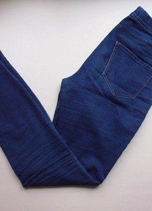 Kup mój przedmiot na #vintedpl http://www.vinted.pl/damska-odziez/rurki/17283433-spodnie-jegginsy-tregginsy-elastyczne-niebieskie-rurki-s