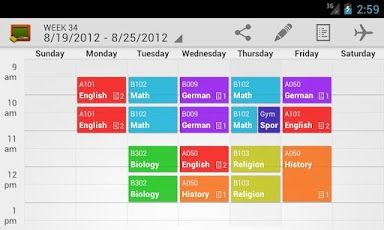 My Class Schedule: Timetable