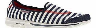 Skechers Go Walk The Go Walk-Americana from Skechers is one of the most eye catching of all of the Go Walk slip on range. With the contrasting stripes these will certainly add style to your step. They have all the fea http://www.comparestoreprices.co.uk/womens-shoes/skechers-go-walk.asp