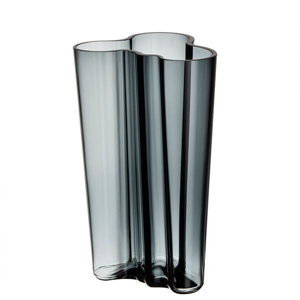 Aalto vase 201mm, dark grey