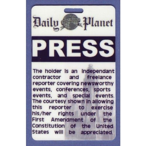 photograph relating to Lois Lane Press Pass Printable identified as Force P Template Prices of the Working day