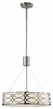 Drake Brushed Nickel Three-Light Chandelier - modern - chandeliers -  Bellacor $116