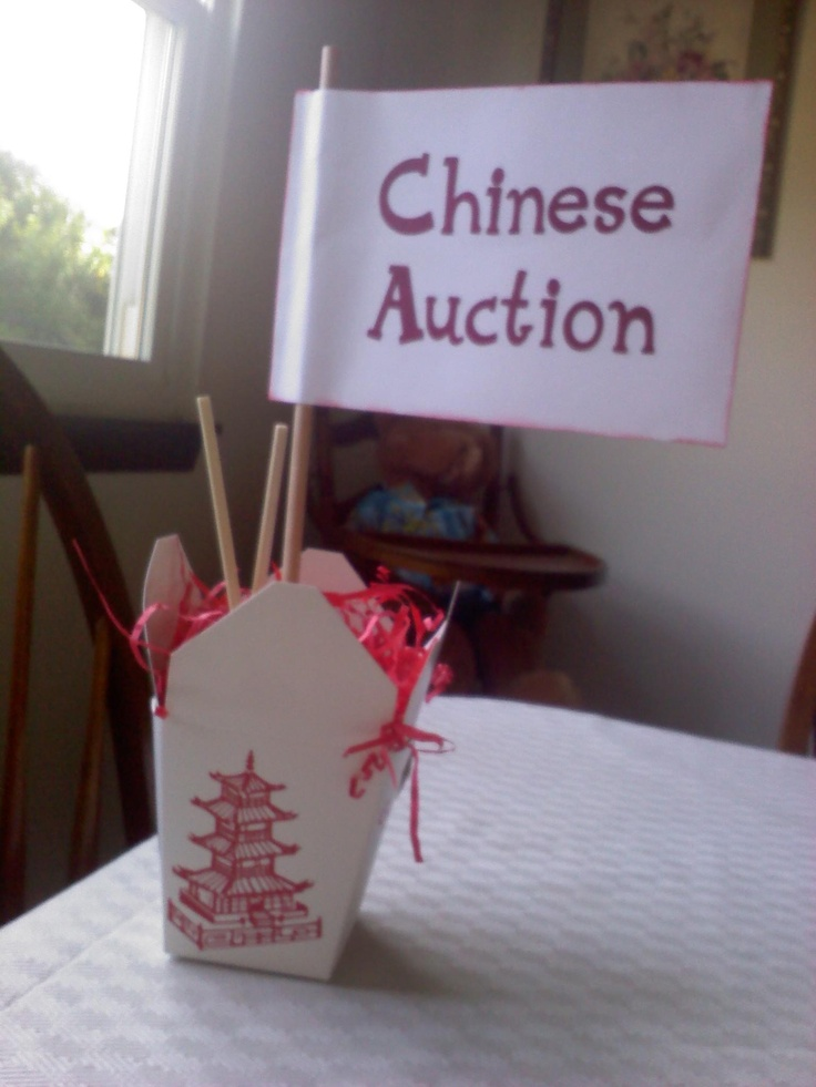 Look what my friend made for her Chinese Auction table.