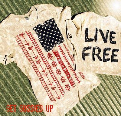 """""""Flag-Live Free"""" tee"""