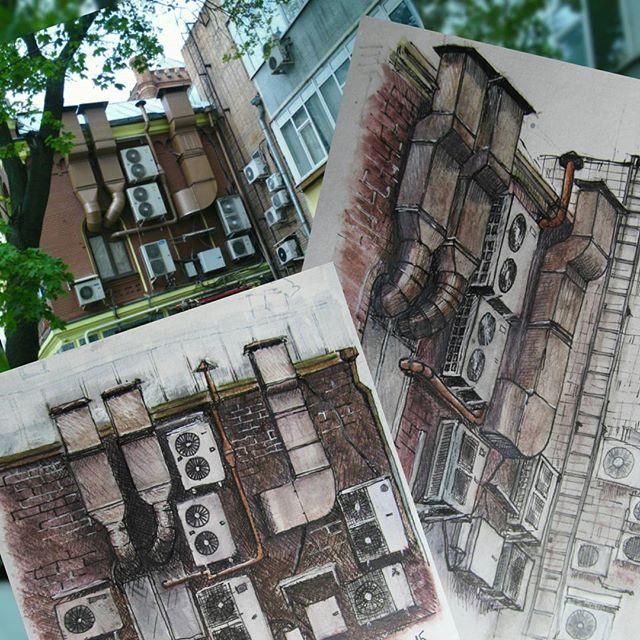 #urban #sketching #wall #penart #город #городскиезарисовки #draw #city