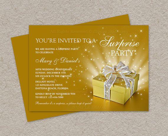 50th Wedding Anniversary Invitation  by iDesignStationery on Etsy, $12.95