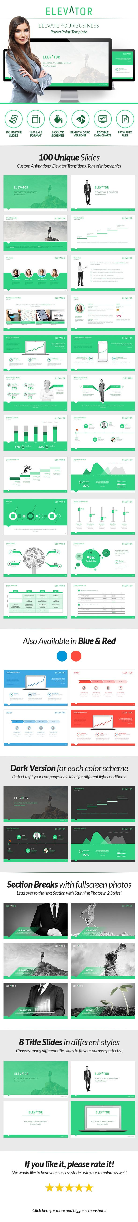 Elevator PowerPoint - Elevate Your Business - PowerPoint Templates Presentation Templates