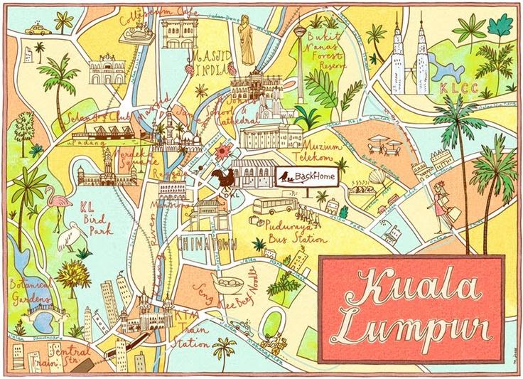 Best 25 map of kuala lumpur ideas on pinterest kuala lumpur map mariko jesse kuala lumpur map sciox Choice Image