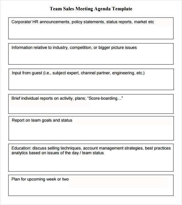 6 Meeting Agenda Templates With Images Meeting Agenda Agenda