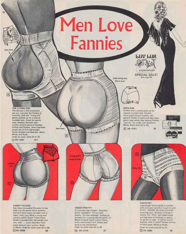 This 1973 lingerie store catalogue tells it like it is.