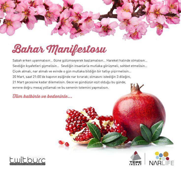 Kışın kasvetinden hala kurtulamayanlara @Nar Street Artist Life ile #twitburc dan Bahar Manifestosu...  #ilkbahar #nar #bereket #pomegranate #spring