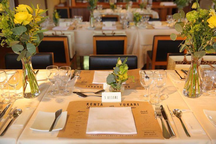 結婚式場アンジュガーデンさんはInstagramを利用しています:「とっても可愛い #ランチョンマット♡♡♡ * こちらのランチョンマットには、 #料理メニュー と #ドリンクメニュー 、 そしてお2人の名前が入った、 とても #お洒落 な #ペーパーアイテム となっております♡ * #素敵 な #アイディア ですね♡ * * #結婚式…」