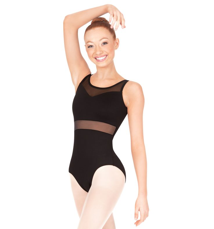 Natalie Adult Mesh Insert Tank Leotard - Style Number: N8705.  Love that the cutout trend is showing up in dancewear.