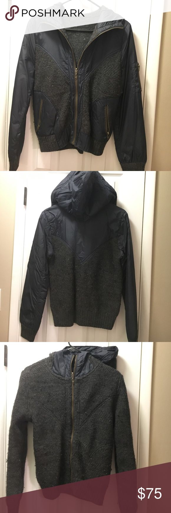 Diesel brand reversible sweater-jacket Really warm, Diesel brand-reversible jacket. Needs a new home. Charcoal gray and navy. Diesel Jackets & Coats