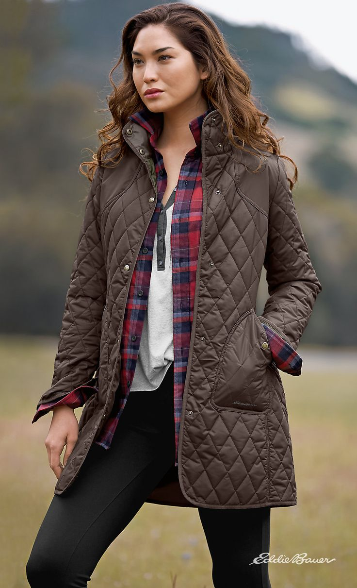 Women's Year-Round Field Coat | Light enough for spring and summer, yet warm enough to take you comfortably into the field in winter. Quilted polyester shell with ThermaFill® synthetic insulation that retains its insulating power even in damp conditions. StormRepel® DWR finish sheds moisture so it doesn't soak into fabric.