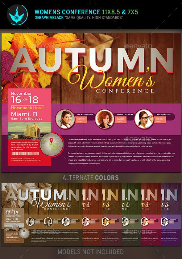 autumn women u0026 39 s conference flyer template