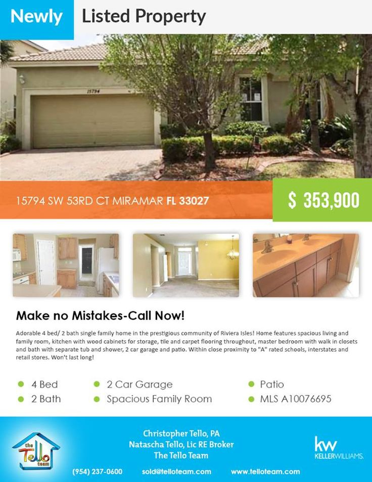 Newly listed property in Miramar  15794 SW 53RD CT MIRAMAR FL 33027