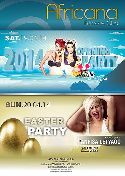 Opening Party !!! Africana Famous Club - Praiano - Amalfi Coast!!