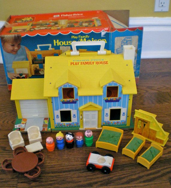 Vintage Fisher Price Toys! - oh I remember that I had this back in the very early 70's; probably 1971 or 1972 when I was 6 or 7 years old. I remember chewing on the little dogs ears - LOL