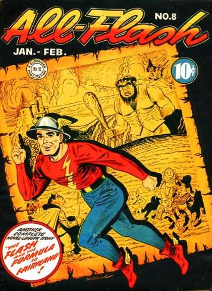 All-Flash Quarterly 8 - The Flash And The Formula To Fairyland - No 8 - Complete Novel Length Story - Dc Publication - Jan-feb