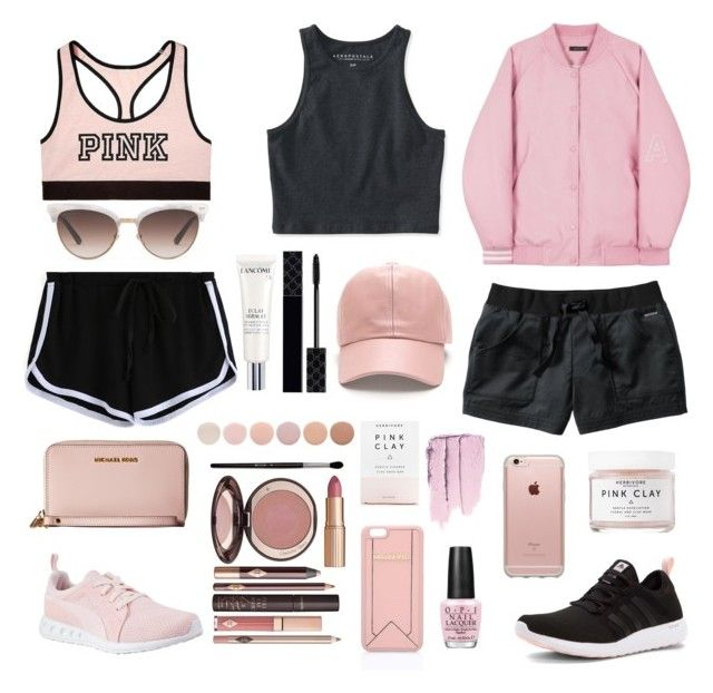 """""""Pink"""" by julimoli27 on Polyvore featuring moda, Aéropostale, Victoria's Secret, adidas, Incase, Puma, Smartwool, Herbivore, OPI y Karl Lagerfeld"""