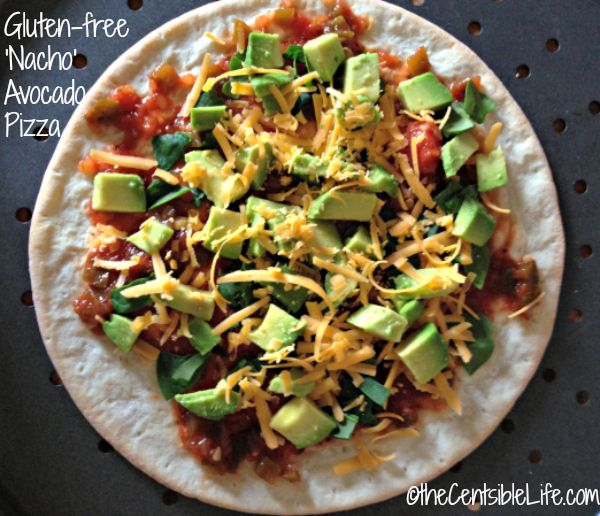 Gluten Free Nacho Avocado Pizza via The Centsible Life