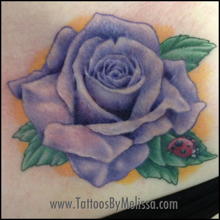 Realistic purple rose tattoo Artist: Melissa Capo E-mail ...