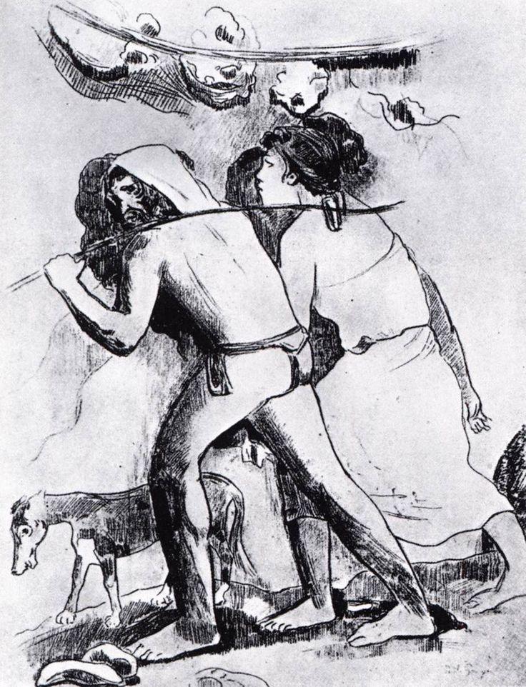 Αδάμ και Εύα (1900) Χαρακτική μονοτυπία σε χαρτί  Ιδιωτική συλλογή