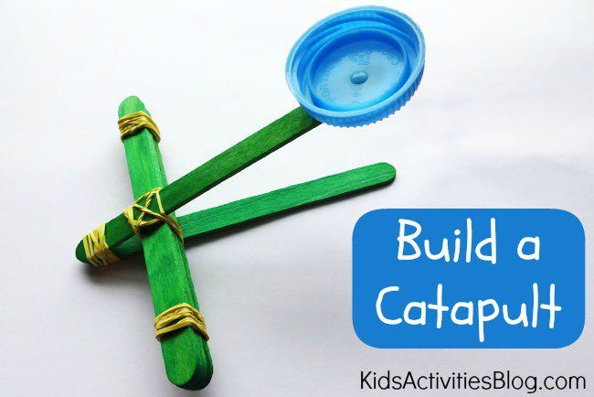 Simple Catapult.  I prefer using the tongue depressor sticks for these though.