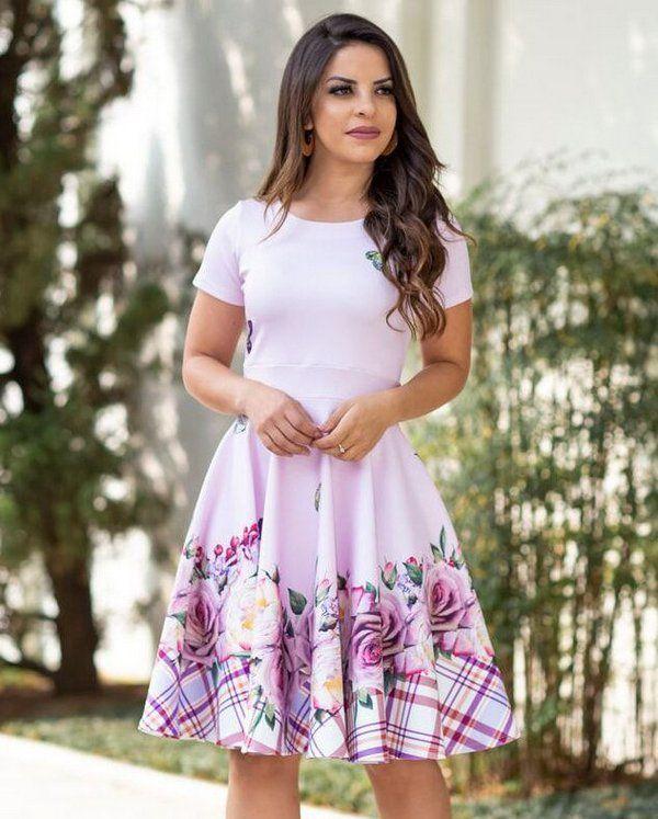 82929623b Vestido Midi Daniela Vinho - Moda Evangélica - Flor de Amêndoa