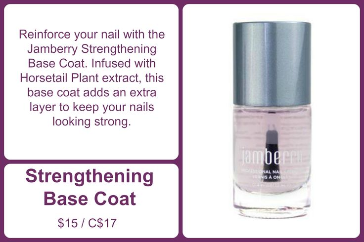 Infused with Horsetail Plant extract, our Strengthening Base Coat adds an extra layer to keep your nails looking strong while also providing the perfect surface for underneath your favorite lacquer.   #StrengtheningJN