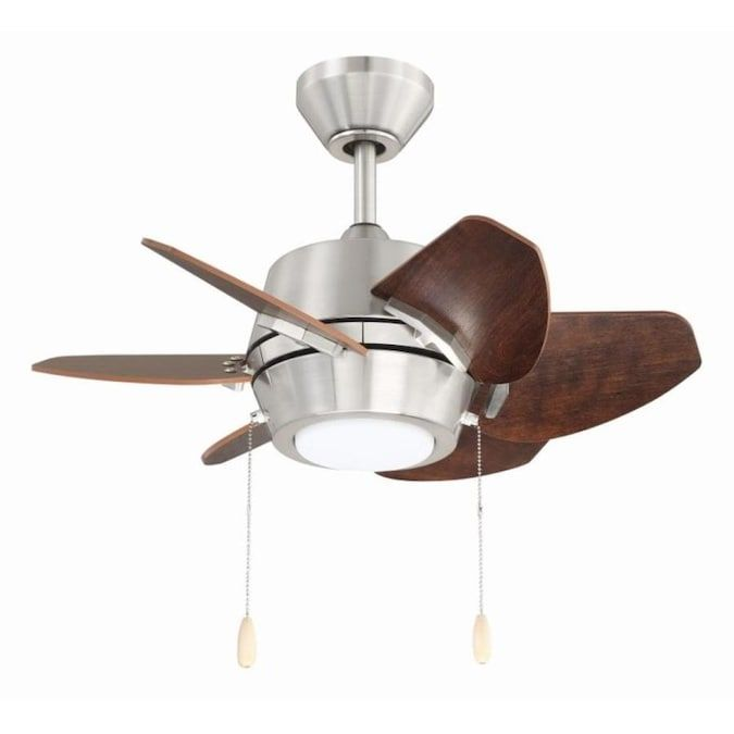 Harbor Breeze Tango 24 In Brushed Nickel Led Ceiling Fan With Light 6 Blade Lowes Com In 2021 Ceiling Fan Ceiling Fan With Light Led Ceiling Fan 24 ceiling fan with light