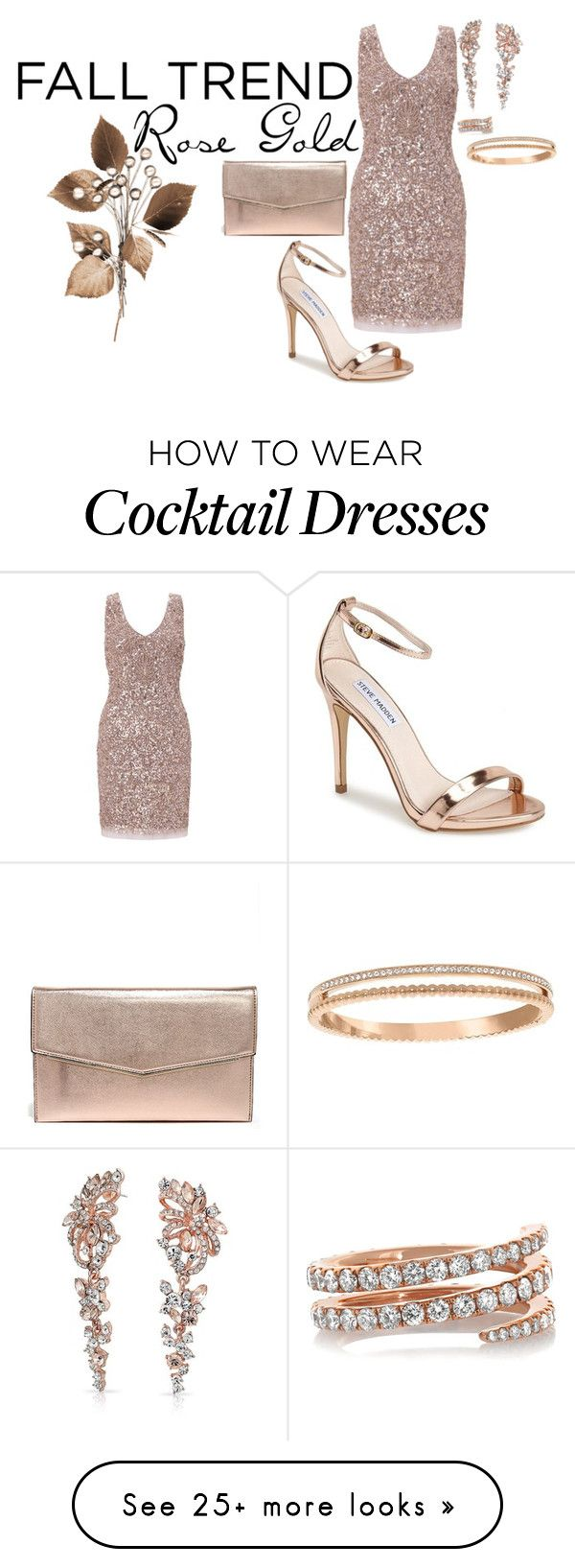 """Rose Gold"" by jmariel09 on Polyvore featuring Aidan Mattox, Steve Madden, Anita Ko, Bling Jewelry, Swarovski and rosegold"