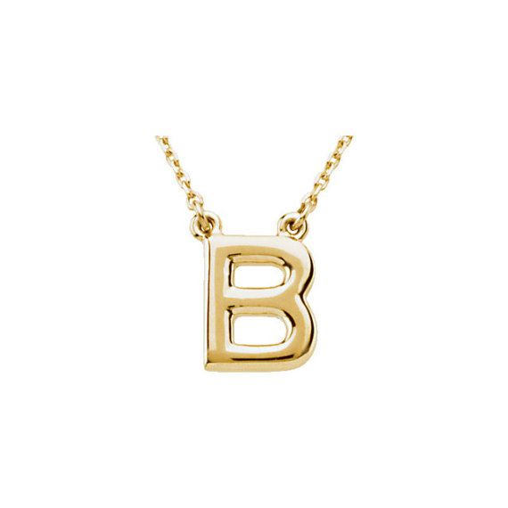 Any Color 14K Gold Initial Necklace by BFJewelryEst1984 on Etsy