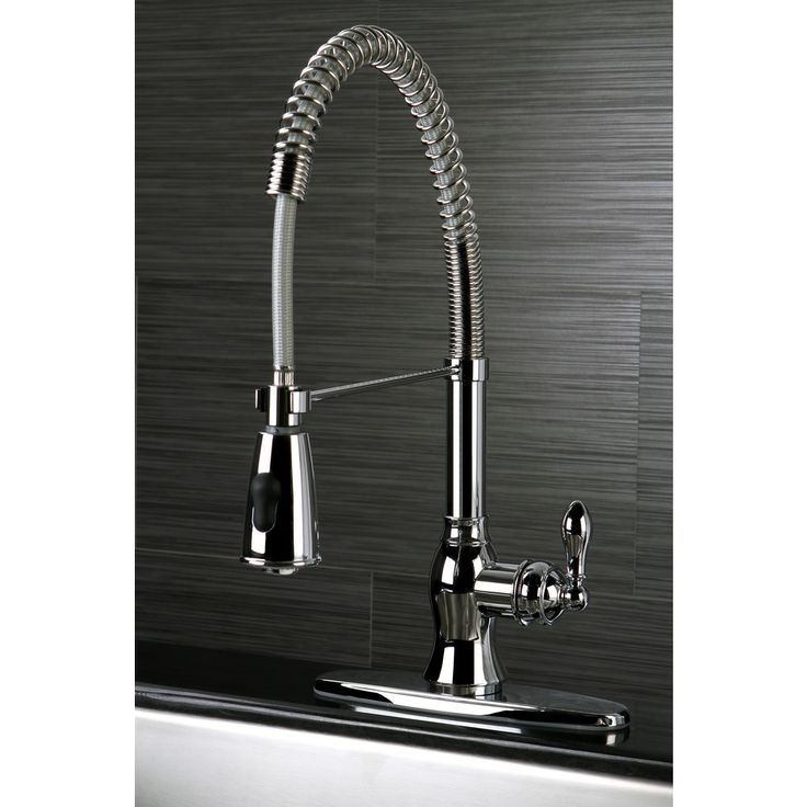 american classic modern chrome spiral pull down kitchen faucet overstock shopping great. Interior Design Ideas. Home Design Ideas