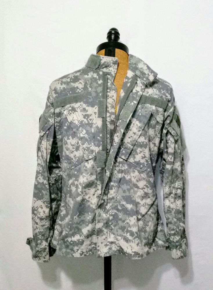 Army Military Field Jacket Pixel Camouflage ~ Size Small - Short #Doesnotapply #Doesnotapply