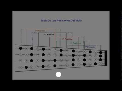 Violin how to find notes on the Violin - Fingerboard Geography part 2 - www.myviolinvideos.com de My Violin Recital >Spanish