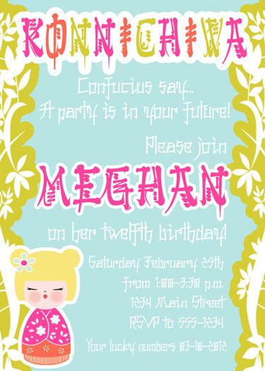 Best Japanese Birthday Images On Pinterest Clothes Cook And - Birthday invitation in japanese