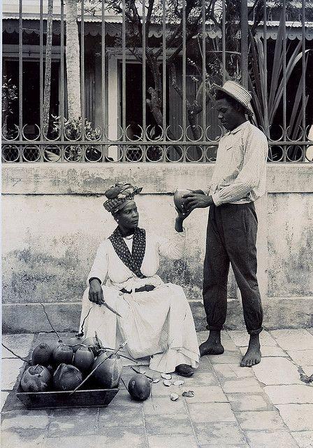 Coconut Seller, Pointe-a-Pitre, Guadeloupe